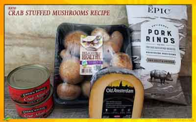 Keto Diet Stuffed Mushrooms Recipe