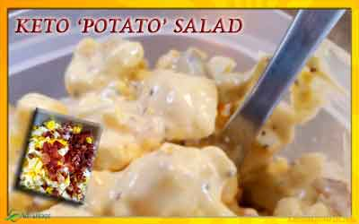 Keto Potato Salad Recipe – No Potato Salad – Low Carb Recipe