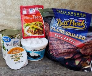 Picture of Ingredients for the No-Cook Keto Traco Bowl Recipe