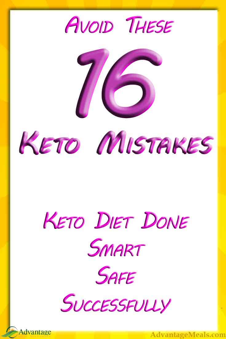 16 Keto Diet Mistakes to Avoid - With the growing popularity of the Ketogenic Diet, more beginners start the diet everyday.  Avoid these common Keto Diet Mistakes to be safe and successful.  #KetoDiet #Keto #KetoLife #Ketogenic #Ketosis