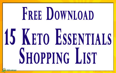 Keto Beginners Shopping List for Free.