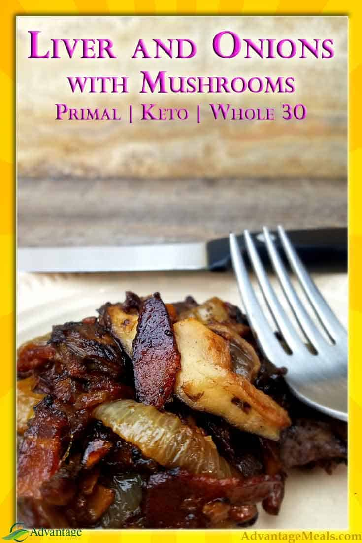 This easy low carb recipe will make you Love Liver!  Beef Liver, Onions, and Mushrooms makes this a great and easy way to eat nutritious organ meat on your keto diet.  Even if you think you don\'t like beef liver, give this keto recipe a try.  You know that you should be eating more nutrient dense organ meats, and this easy liver recipe is going to change your mind.  #Keto #OrganMeat