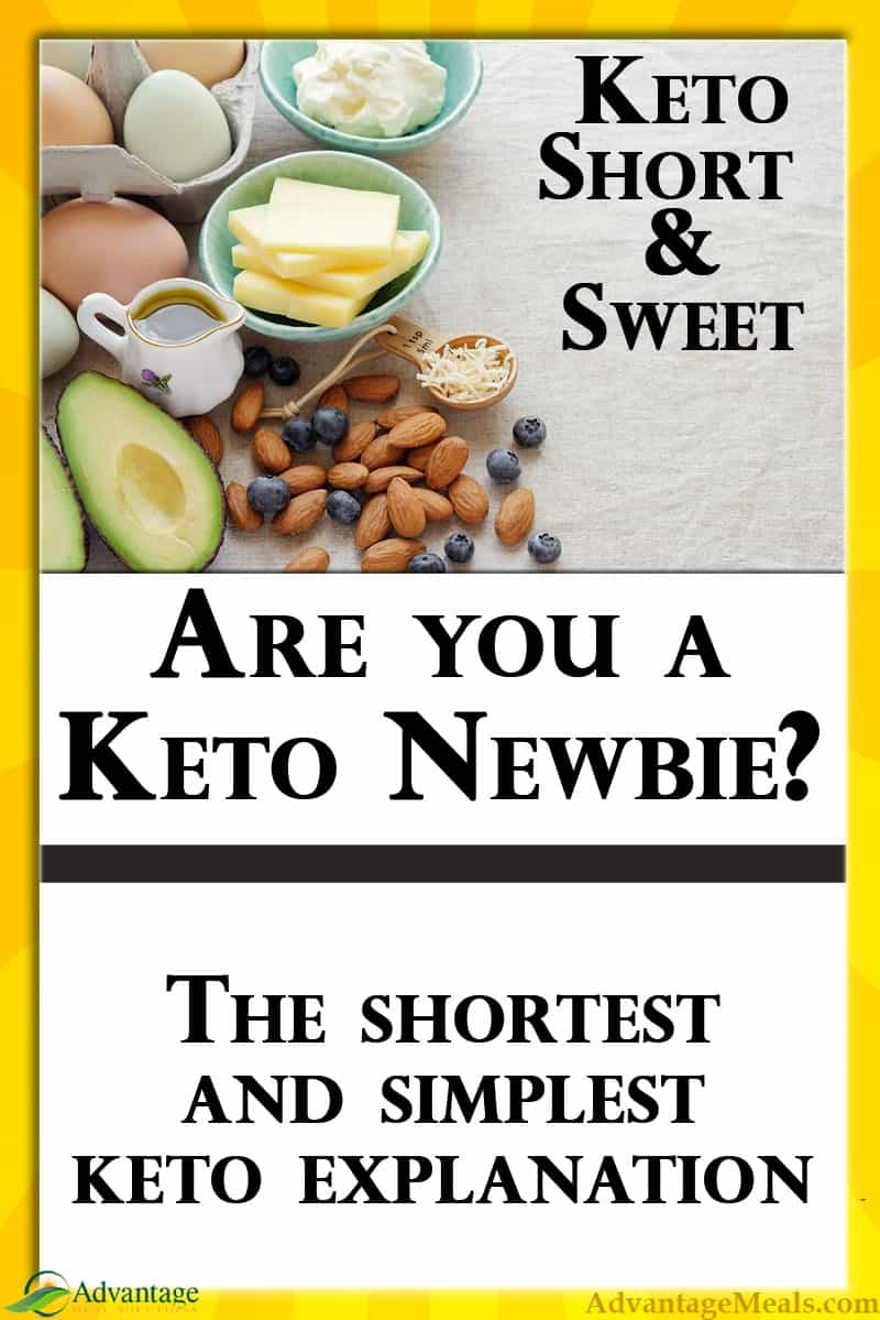Keto Simplified.  The absolute basics of a Keto Diet.  Short and sweet, for the Keto Newbie. Read the whole thing in just a few minutes.  #Keto #KetoDiet