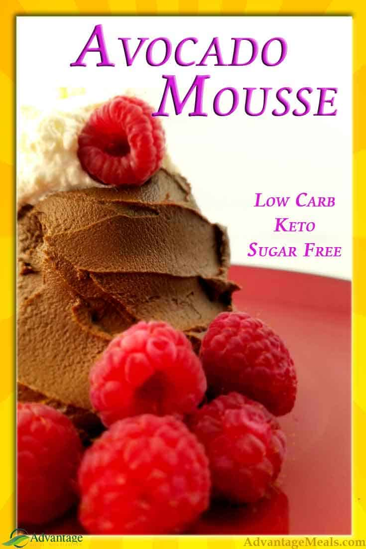 Avocado Mousse Recipe.  With 3 Net Carbs, this makes a wonderful Keto Dessert plus all the avocado makes this mousse a killer ketogenic fat bomb.  #Avocado #AvocadoMousse #Keto #KetoDessert #KetoRecipe