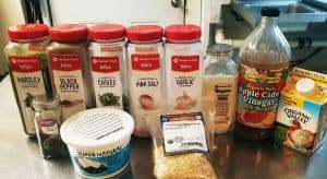 Ingredients for Keto Ranch Dressing