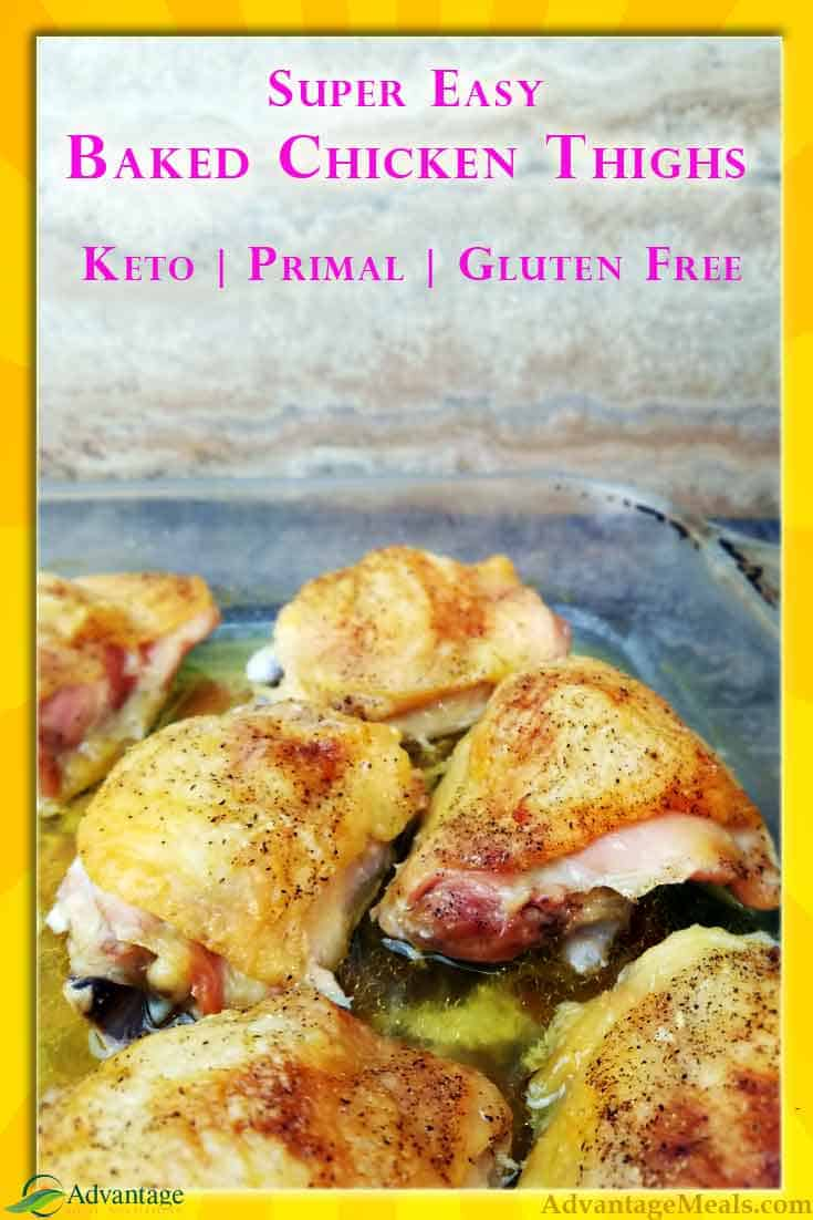 This Inexpensive, Fast, Super Easy, Keto Recipe will become a Keto Staple in your house just like it has in ours. The recipe isn't complex, but it's fool proof and yummy.  Low carb / High Fat keto chicken thighs.  #Keto #MealPrep #KetoDiet #KetoRecipe #Frugal