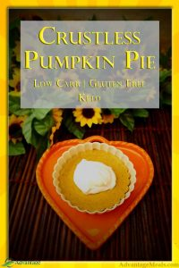 Crustless Pie Recipe for a Keto Thanksgiving Pumpkin Pie.