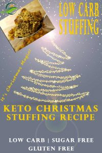Low Carb Cornbread Stuffing Recipe. If you're planning a Keto Christmas Meal, Low carb Cornbread Stuffing is probably on your keto menu. After much trial and error, this is the best low carb stuffing recipe. It tastes like the traditional Christmas Dressing Recipe, but is Low Carb, Sugar Free, & Gluten Free. #Keto #LowCarb