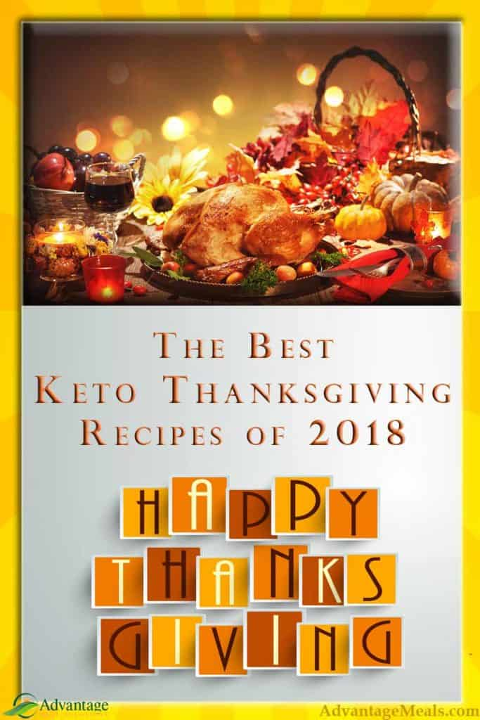 Thanksgiving keto side dish recipes from Advantage Meals and Angela Davis.