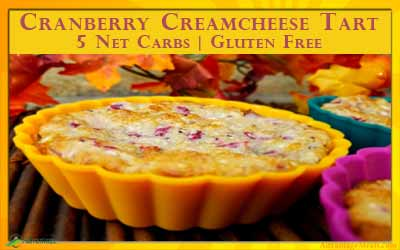 Low Carb Cranberry Cream Cheese Mini Tart
