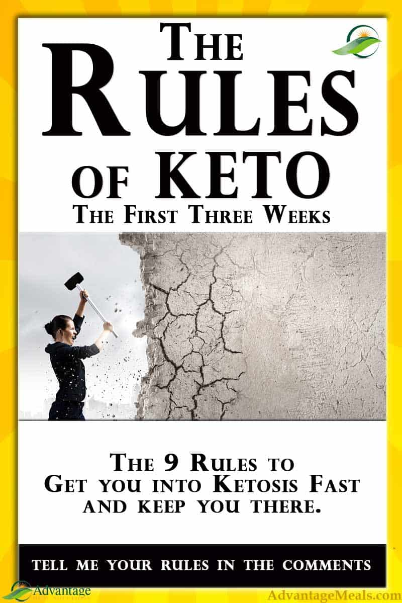 The Keto Rules. For Keto Diet Beginners, the ketogenic diet can be overwhelming and confusing. This guide makes the keto diet easy.  Just follow these Keto Rules for the first three weeks to get into ketosis fast and stay there. Weight loss really can be effortless when you start your new keto diet the right way.  There are many ways to keto, but there is only one good way to start a keto diet.  Follow these beginners keto rules. #Keto #KetoBeginner
