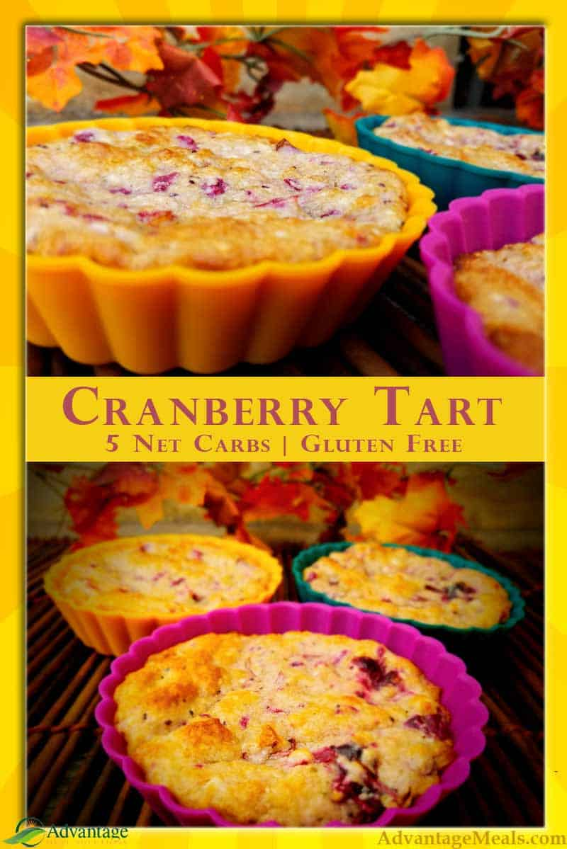 4 Net Carbs Cranberry Cream Cheese Tart Keto Recipe.  This is a great Keto Thanksgiving Dessert or even a holiday low carb breakfast treat.  This recipe uses left over Low Carb Cranberry Sauce, or just make a little extra for this Thanksgiving Dessert.  There\'s no reason that you have to miss out on great holiday desserts while staying true to your keto diet.  Enjoy! #Keto #KetoRecipe