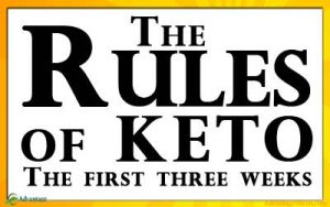 The Keto Rules. If you are a Keto Diet Beginner, the ketogenic diet can be overwhelming and confusing. This guide makes the keto diet easy. Just follow these Keto Rules for the first three weeks to get into ketosis fast and stay there. Weight loss really can be effortless when you start your new keto diet the right way. There are many ways to keto, but there is only one good way to start a keto diet. Follow these beginners keto rules. #Keto #KetoDiet #KetoBeginner #KetoRules