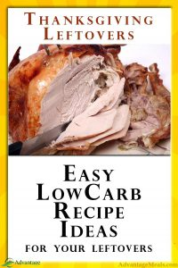 Easy Low Carb Thanksgiving Leftover Recipes and Ideas. Don't let your Thanksgiving leftover go to waste or ruin your Keto Diet. Easy Low Carb Recipe Ideas to use up your leftover turkey, low carb dressing, and more. #LowCarb #Thanksgiving