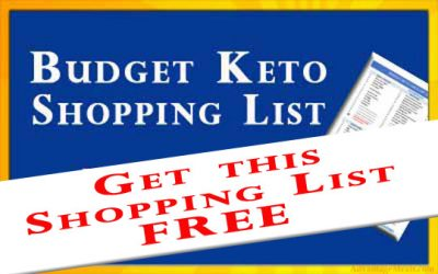 Free Printable Budget Keto Shopping List