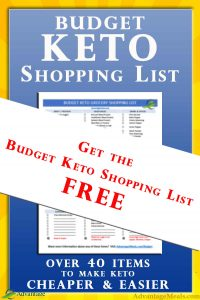 Get the Budget Keto Shopping List Free