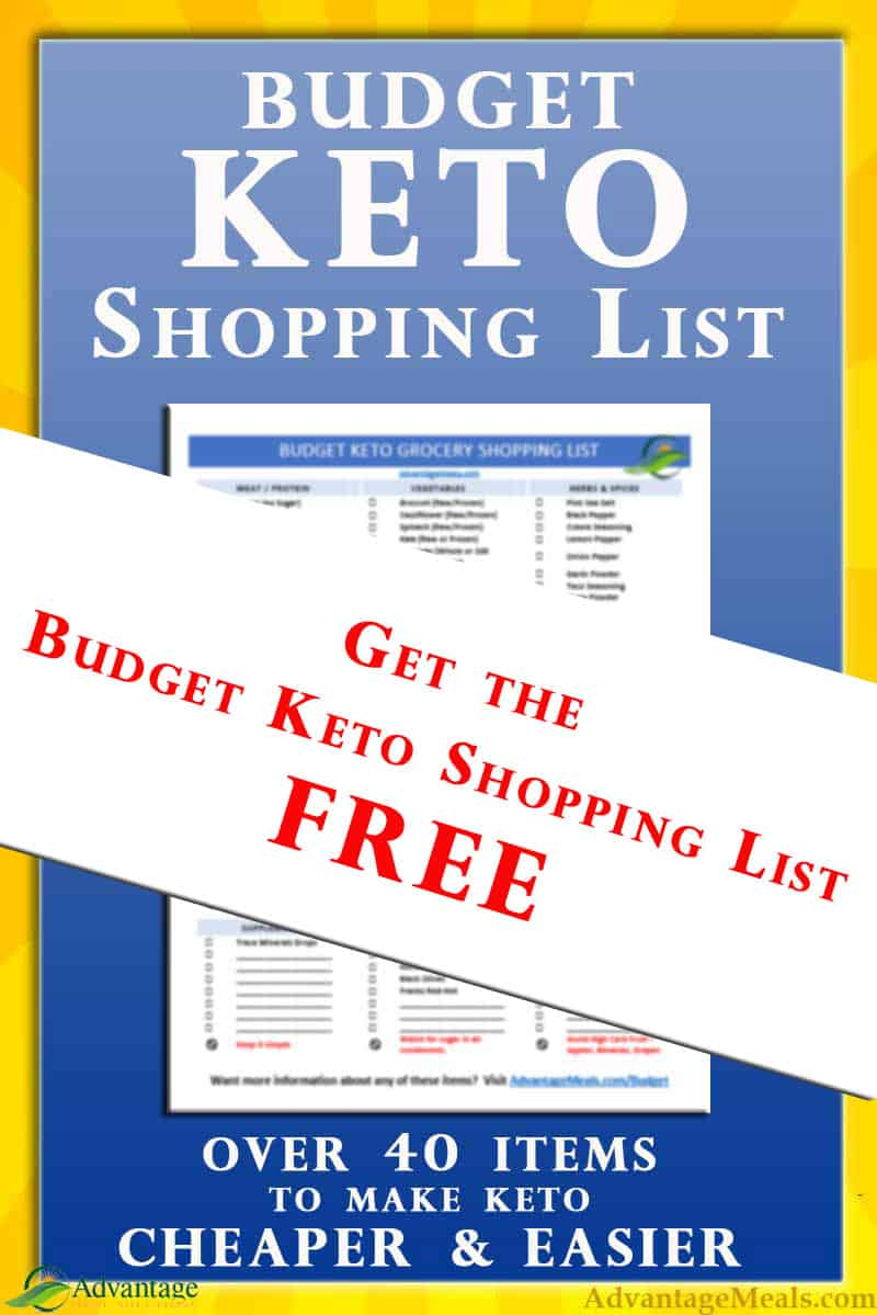 Free Printable Budget Keto Shopping List - Advantage Meals ...