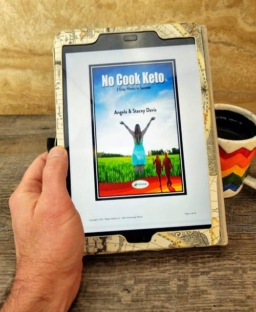 The No Cook Keto Meal Plan is easy to read on your tablet.