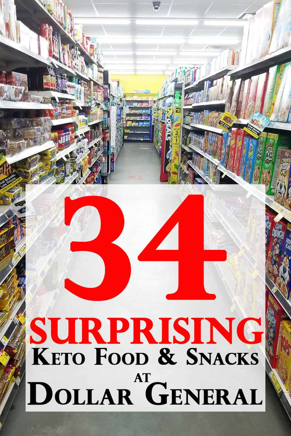 You will be shocked how many Keto Foods and Keto Snacks you can find in a Dollar General Store! I visited this small town Dollar General with my camera in hand.  Check it out if your trying to eat Budget Keto or following a Keto Diet in a town without a real grocery store.  #KetoDiet @AdvantagMeals