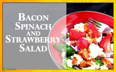 Bacon, Spinach and Strawberry Keto Salad Recipe