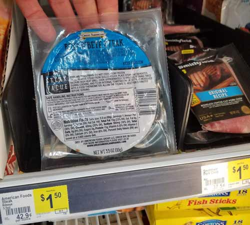 Yes you can find keto food at Dollar General - Frozen Keto Steak at Dollar General Store