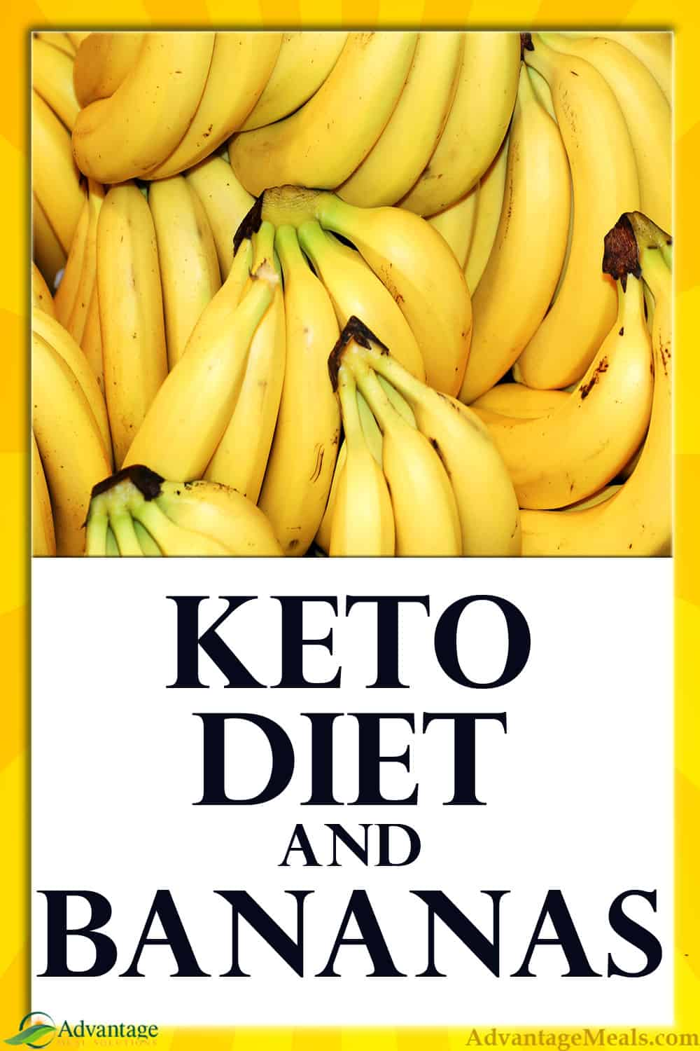 Bananas are packed full of carbs and are not a keto friendly fruit.  It\'s hard to give up fruits, and while there are some keto fruits, bananas are not one of them.  Did you know that modern bananas are making monkeys fat and sick?  Learn more here. ~ Angela of @AdvantageMeals #KetoDiet #KetoFruit