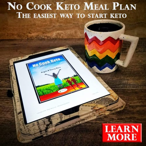Advertisement for The No Cook Keto Meal Plan.