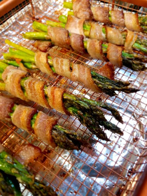Crispy Bacon and Perfectly cooked Asparagus