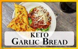 Easy Cheesy Garlic Bread Recipe. Just 2 Net Carbs and Gluten Free!