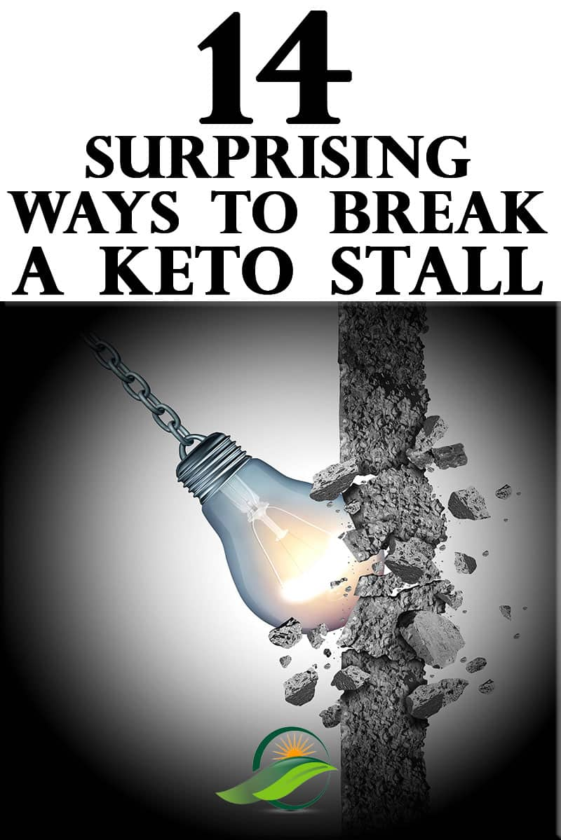 14 Surprisingly Simple Ways to Break a Keto Stall.  Everyone hits a weight loss plateau on a diet, but not everyone needs to stay stuck on their Ketogenic Diet.  Let me help you crush Keto.  ~Angela of @AdvantageMeals #KetoStall #KetoPlateau