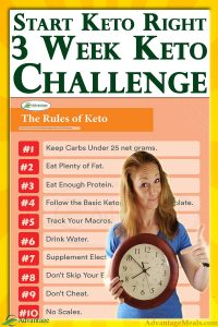 Beginning a Ketogenic Diet doesn't have to be complex or confusing. Keto starting a keto keto diet simple by joining my committed keto community in this shared keto journey. Together we will lose weight fast. This weight-loss support group can make all the difference. ~ Angela of @AdvantageMeals #MealPlan #dietPlan