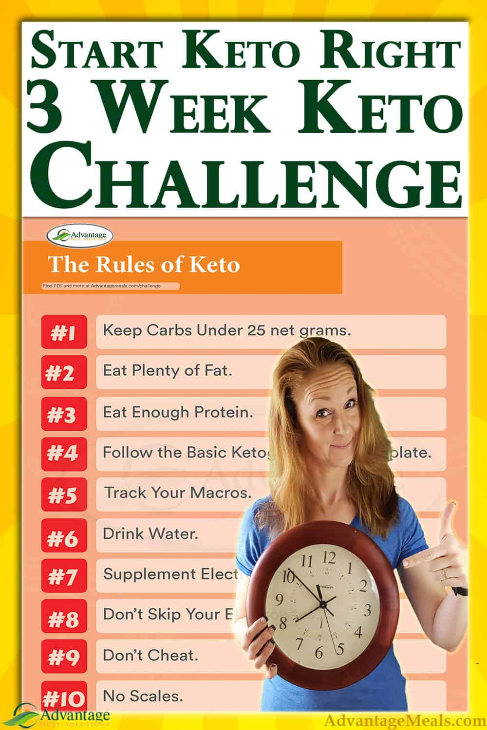 Beginning a Ketogenic Diet doesn\'t have to be complex or confusing. Keto starting a keto keto diet simple by joining my committed keto community in this shared keto journey. Together we will lose weight fast. This weight-loss support group can make all the difference. ~ Angela of @AdvantageMeals #MealPlan #dietPlan