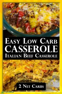 Only 2 Net Carbs, an easy recipe, and the kids are going to love it. That means you are going to love this keto casserole recipes too. When you try it, please add a picture to this pin. I love to see when my ketogenic friends try my recipes! ~ Angela of @AdvantageMeals #KetoCasserole #LowCarbCasserole