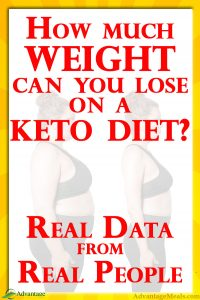 How many pounds can you lose on a keto diet in one month