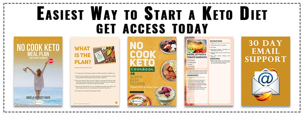 No Cook Keto Meal Plan and Keto Recipe Book Bundle