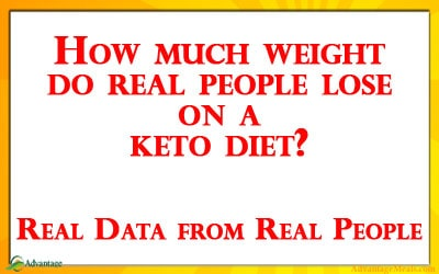 What is the average weight loss on Keto?  Real Statistics