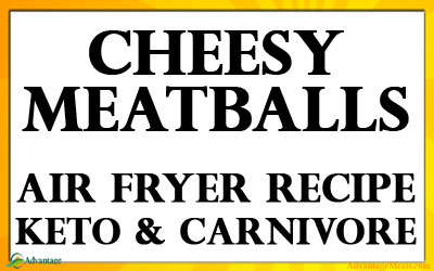 Cheesy Air Fryer Meatballs Recipe – Keto & Carnivore