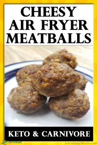 Keto Recipe for an Air Fryer - Cheesy Meatballs Recipe