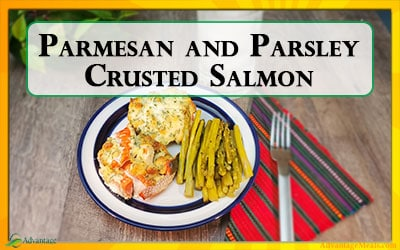 Parmesan and Parsley Crusted Salmon