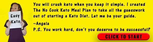 Advertisement for No Cook Keto Meal Plan