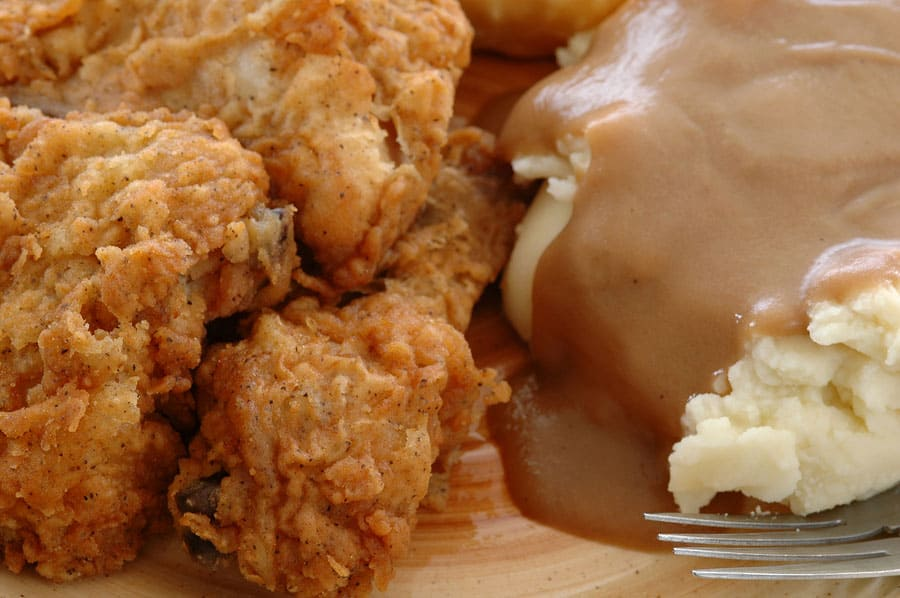 Image of Low Carb Fried Chicken and Ketogenic Mashed Potatoes and Gravy