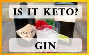 Gin is ketogenic friendly