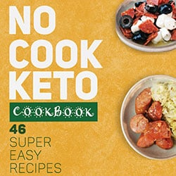 Image Of The No Cook Keto Cookbook Cover