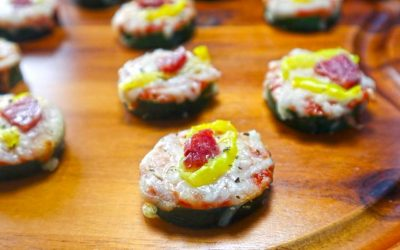 Zucchini Pizza Bites Low Carb Recipe: Keto Party Appetizers